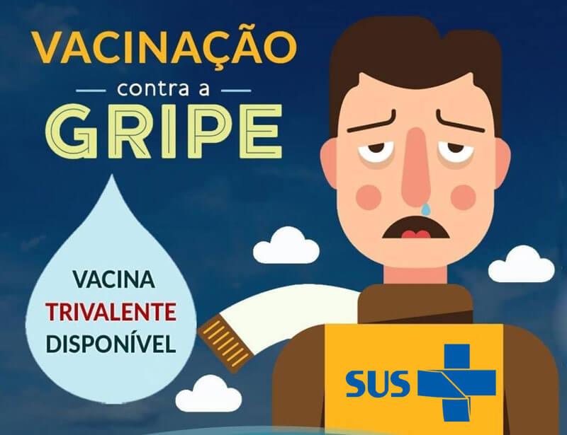 vacinação contra a gripe pelo SUS